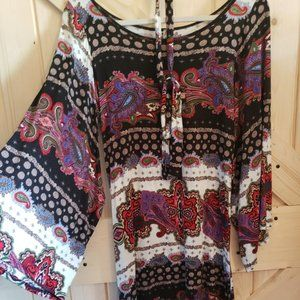 Rustic West Bell sleeve Tunic dress (S/M)